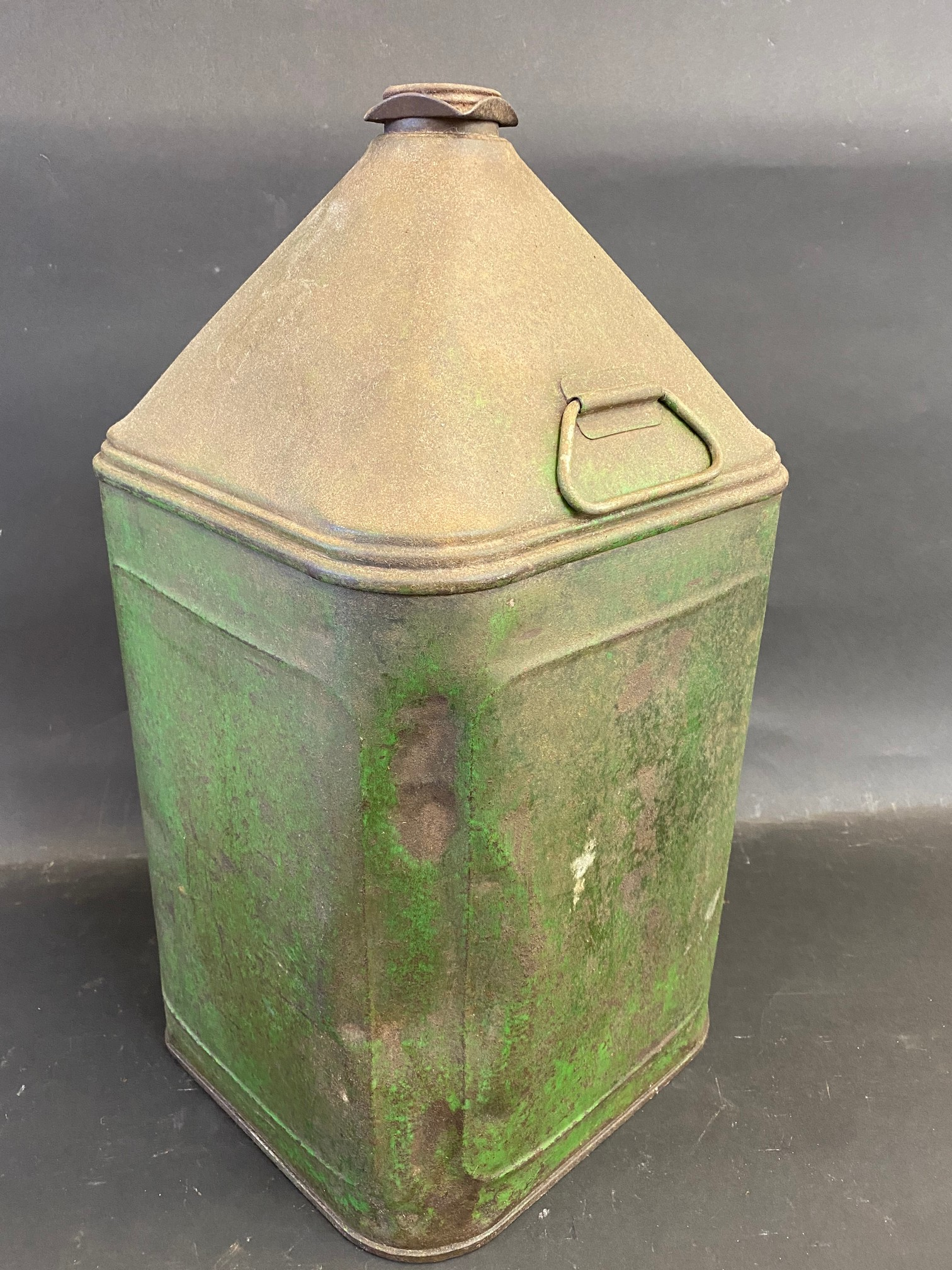 A Liberty Motor Oil square five gallon pyramid can. - Image 2 of 4