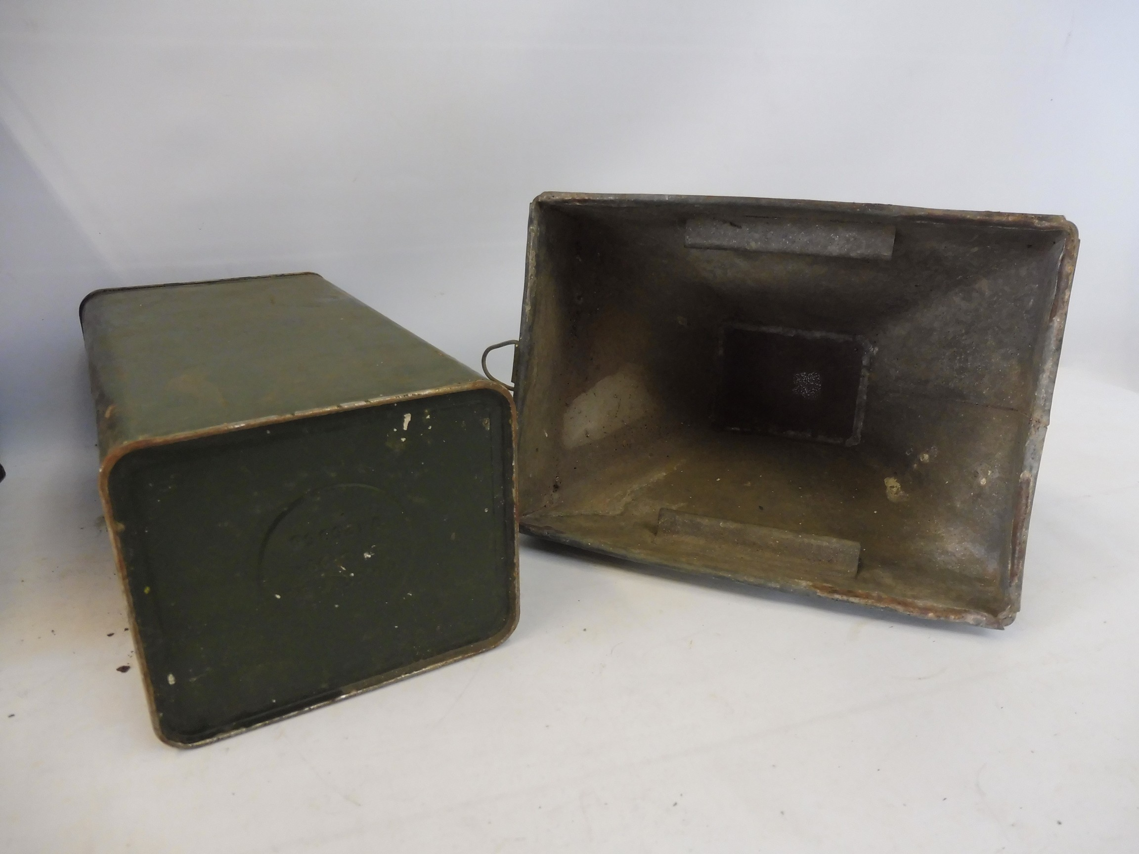 Two crates of assorted oil cans, a funnel etc. - Image 5 of 6