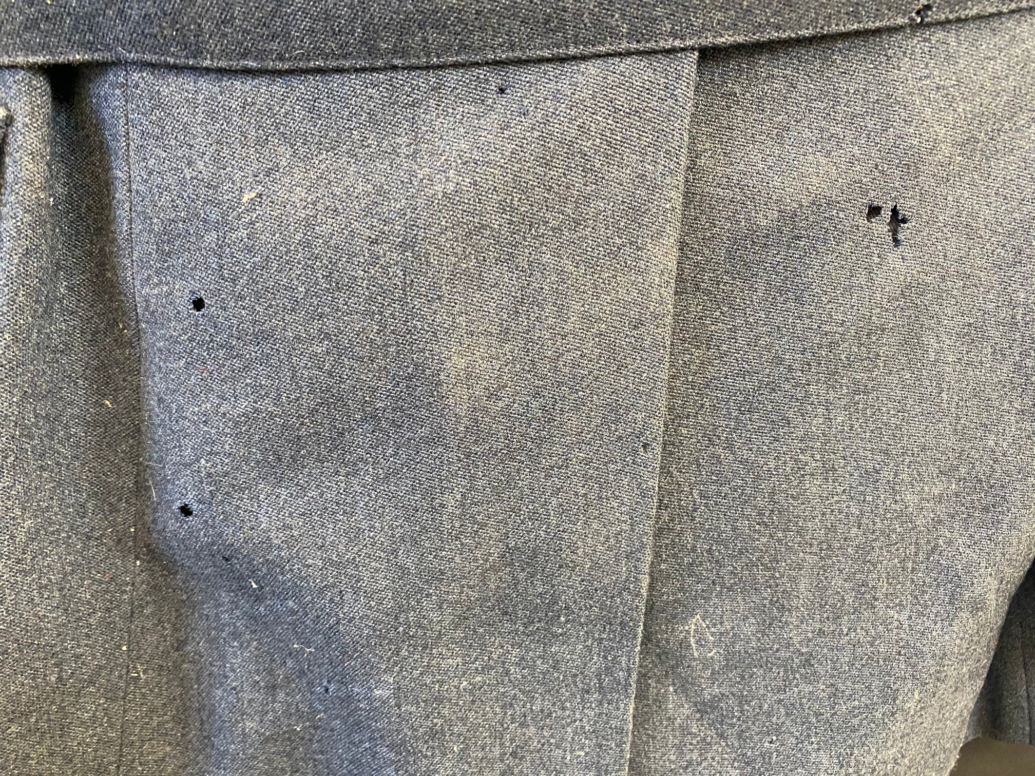 An RAC blue jacket and trousers with embossed lapel badges and RAC silver coloured buttons. - Image 5 of 6