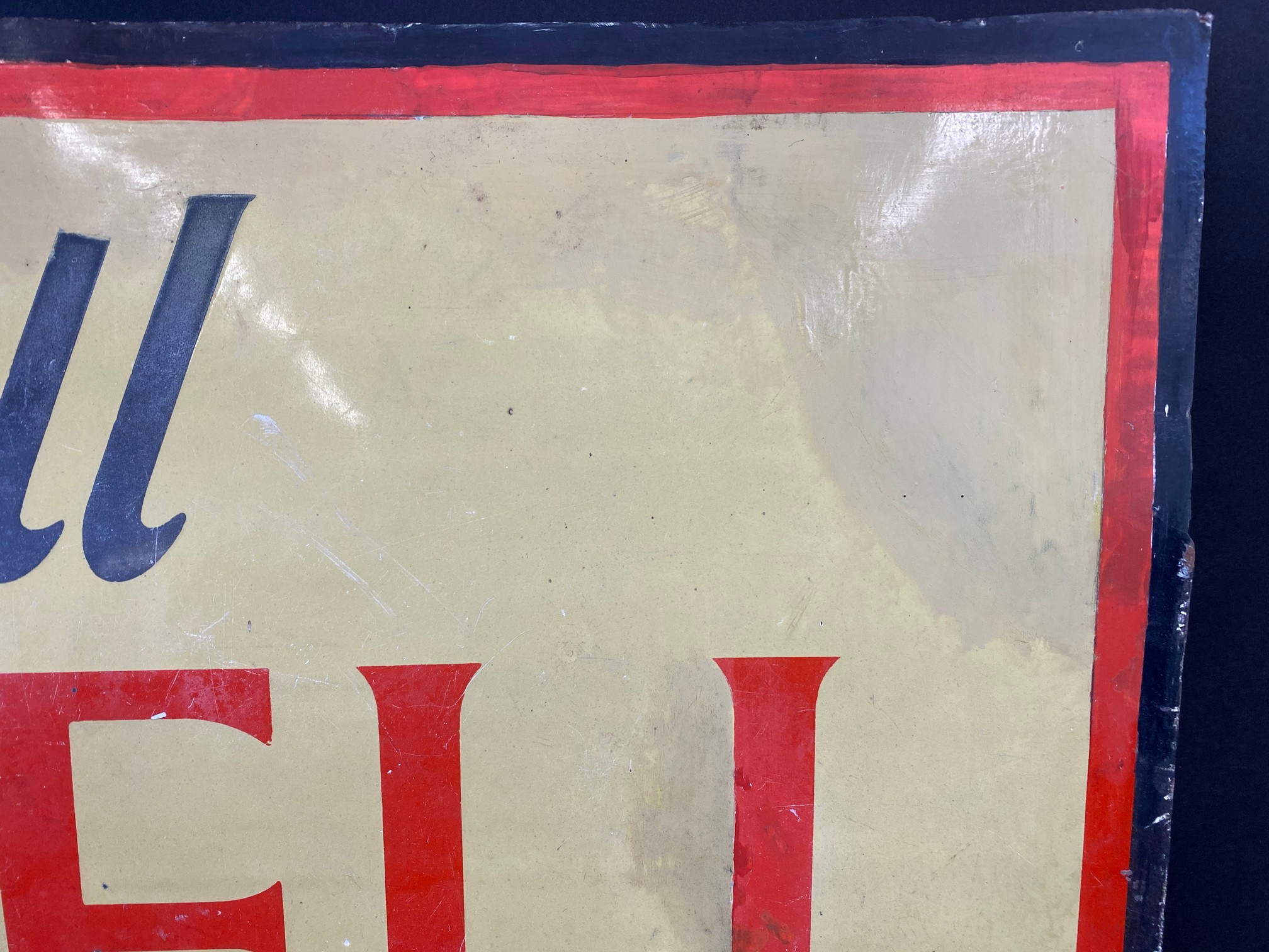 A Shell Lubricating Oils 'Every Drop Tells' pictorial enamel sign with some patches of - Image 2 of 8