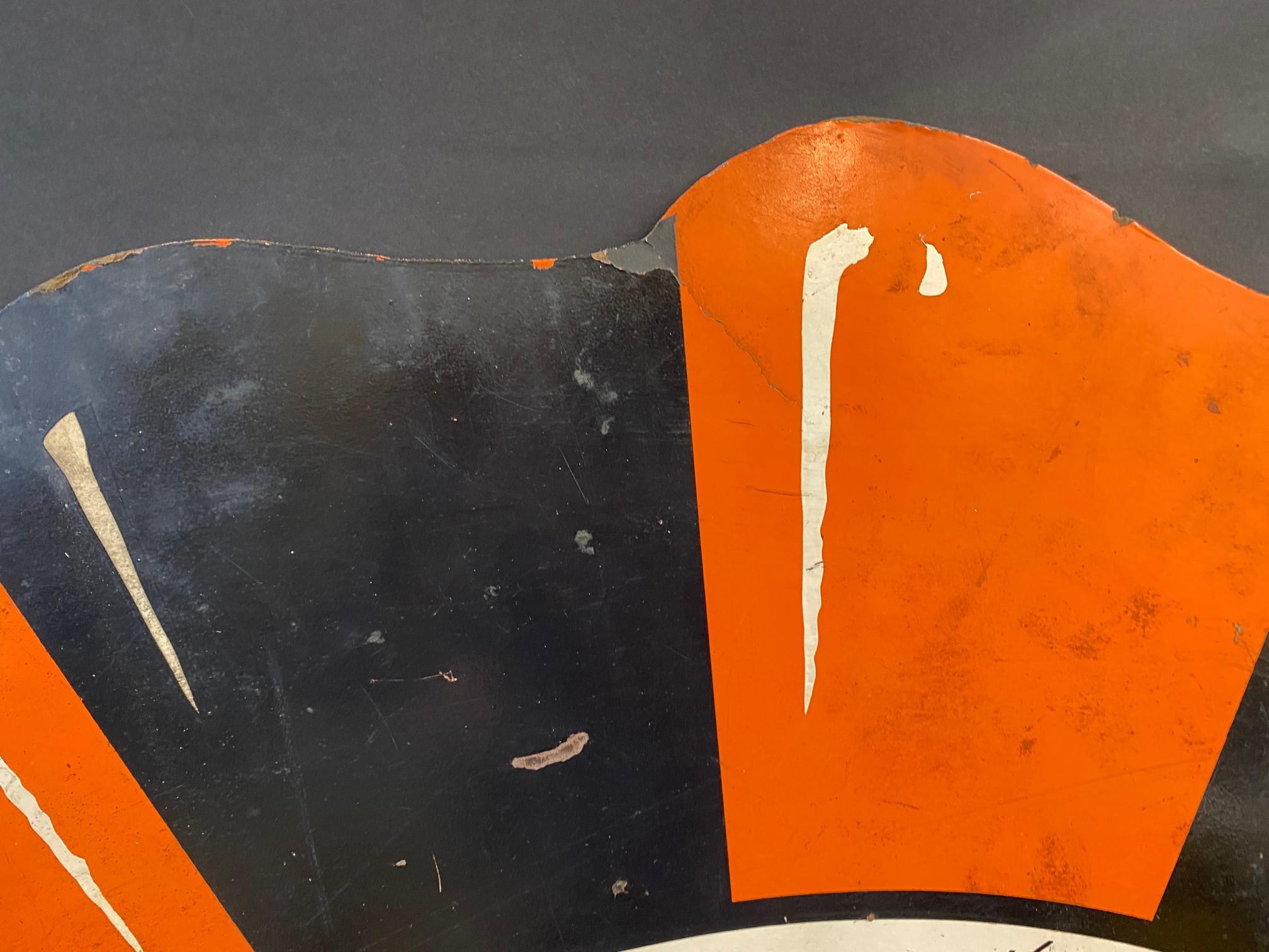 """An Esso 'Tiger' hardboard promotional hardboard sign, 36"""" diameter. - Image 3 of 4"""