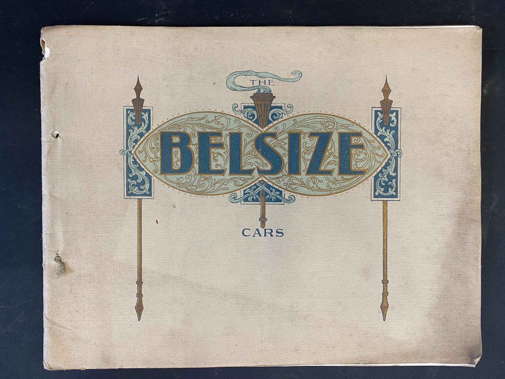 A Belsize car brochure, 1908 featuring a 14/16hp, the 20hp, the 28hp and the 40hp.