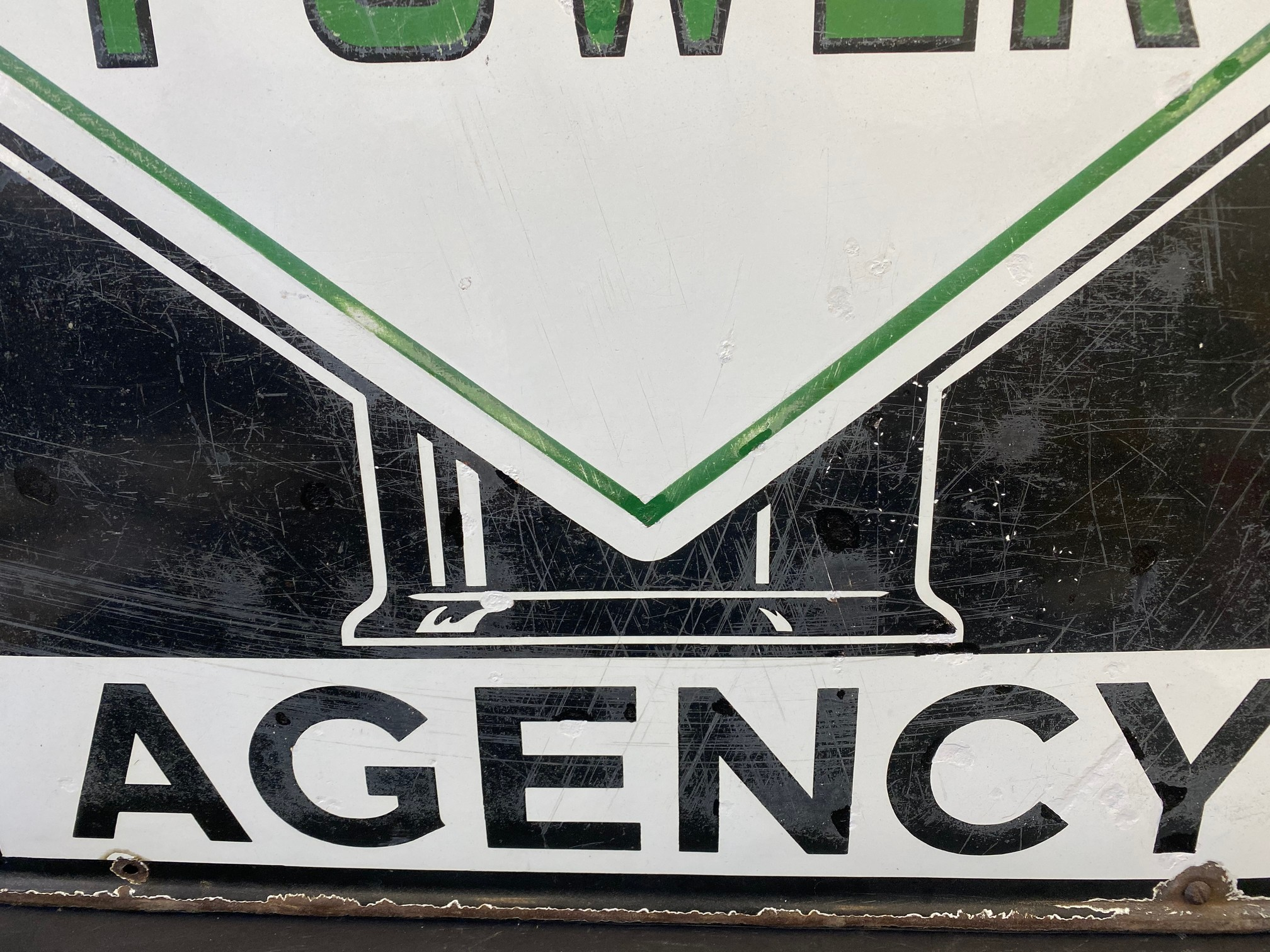 """A Power Agency enamel sign with globe motif to the centre, 35 x 25"""". - Image 4 of 9"""