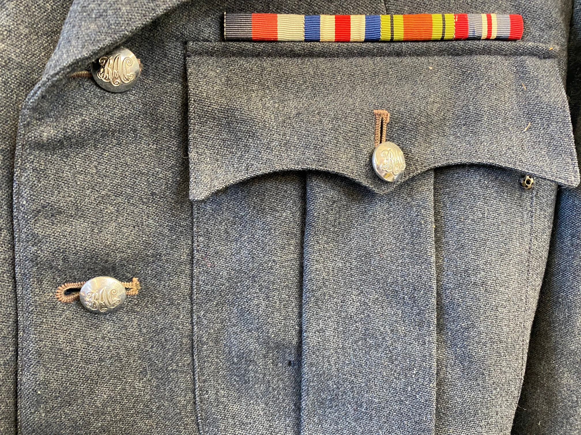 An RAC blue jacket and trousers with embossed lapel badges and RAC silver coloured buttons. - Image 3 of 6