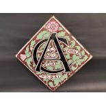 """A very rare enamel sign advertising the Automobile Club of Great Britain and Ireland, 28 x 28""""."""