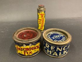 Three early Patchquick tins.