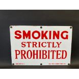 A 'Smoking Strictly Prohibited' Garage Notice No.1 rectangular enamel sign, in excellent