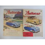 Two Autocar magazines from 1948.