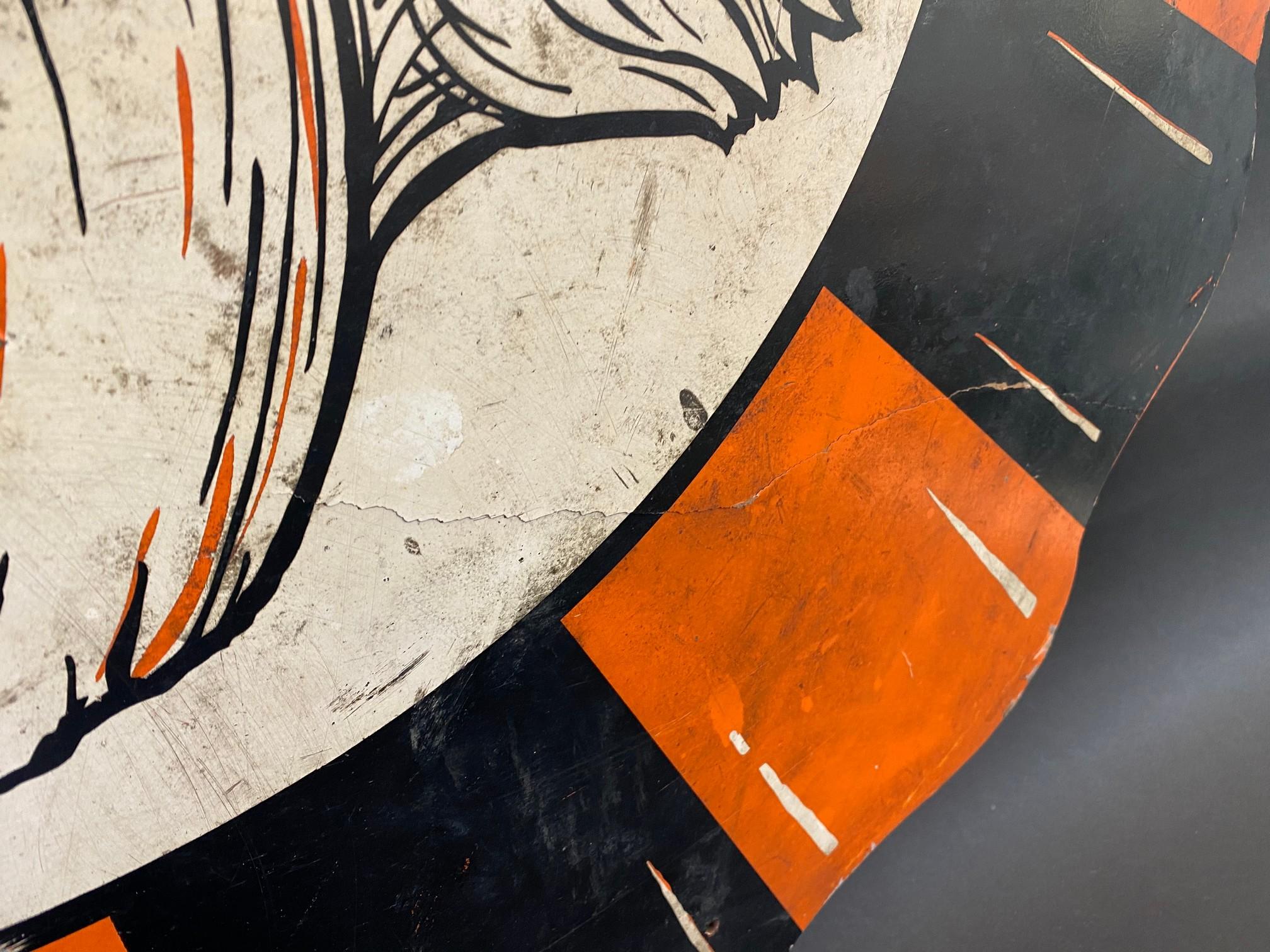 """An Esso 'Tiger' hardboard promotional hardboard sign, 36"""" diameter. - Image 2 of 4"""