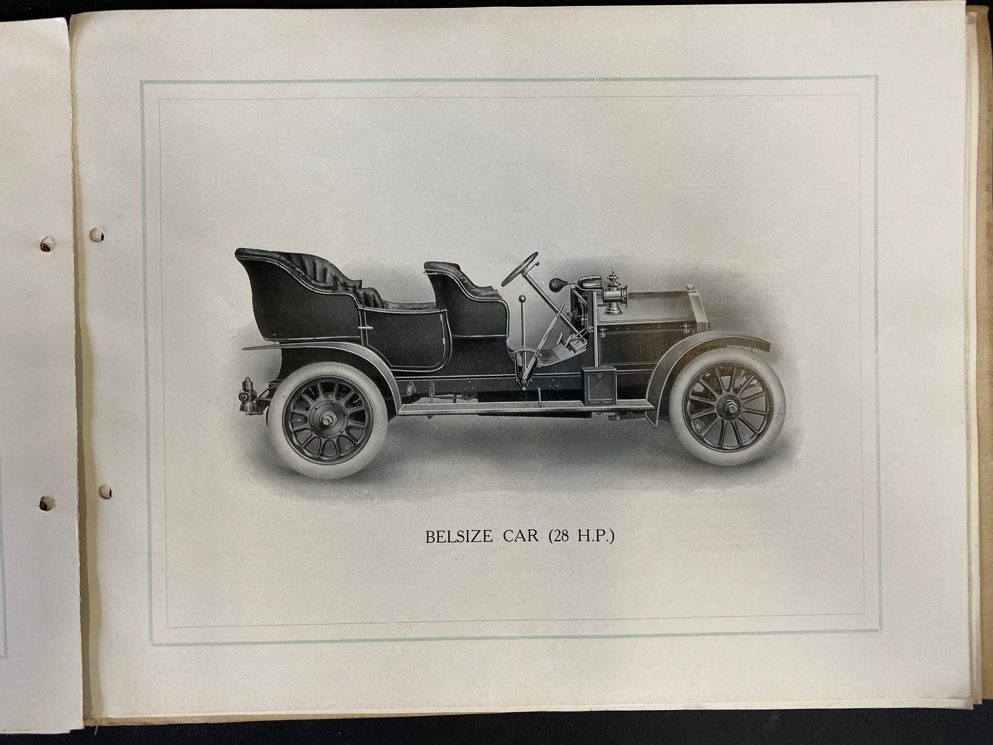 A Belsize car brochure, 1908 featuring a 14/16hp, the 20hp, the 28hp and the 40hp. - Image 4 of 5