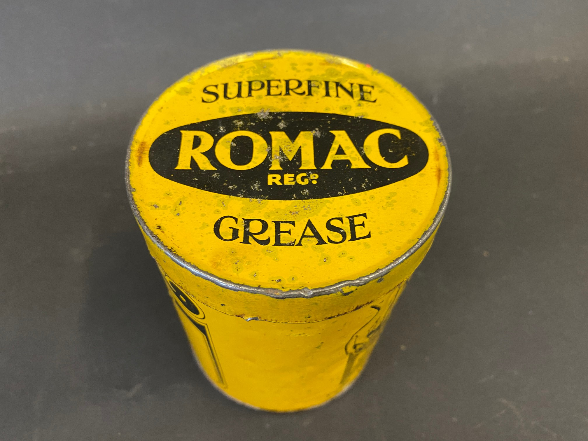 A Romac Superfine Grease tin of bright colour. - Image 3 of 4