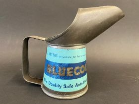 A Smiths Bluecol Anti-Freeze half pint measure, in good condition.