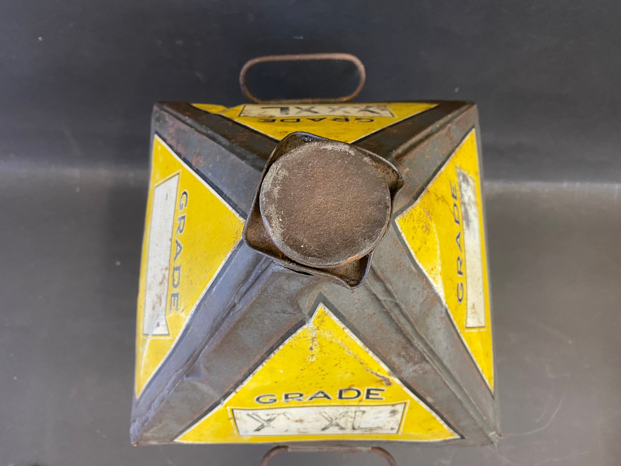 A Gamages Motor Oil five gallon pyramid can of good colour. - Image 3 of 4