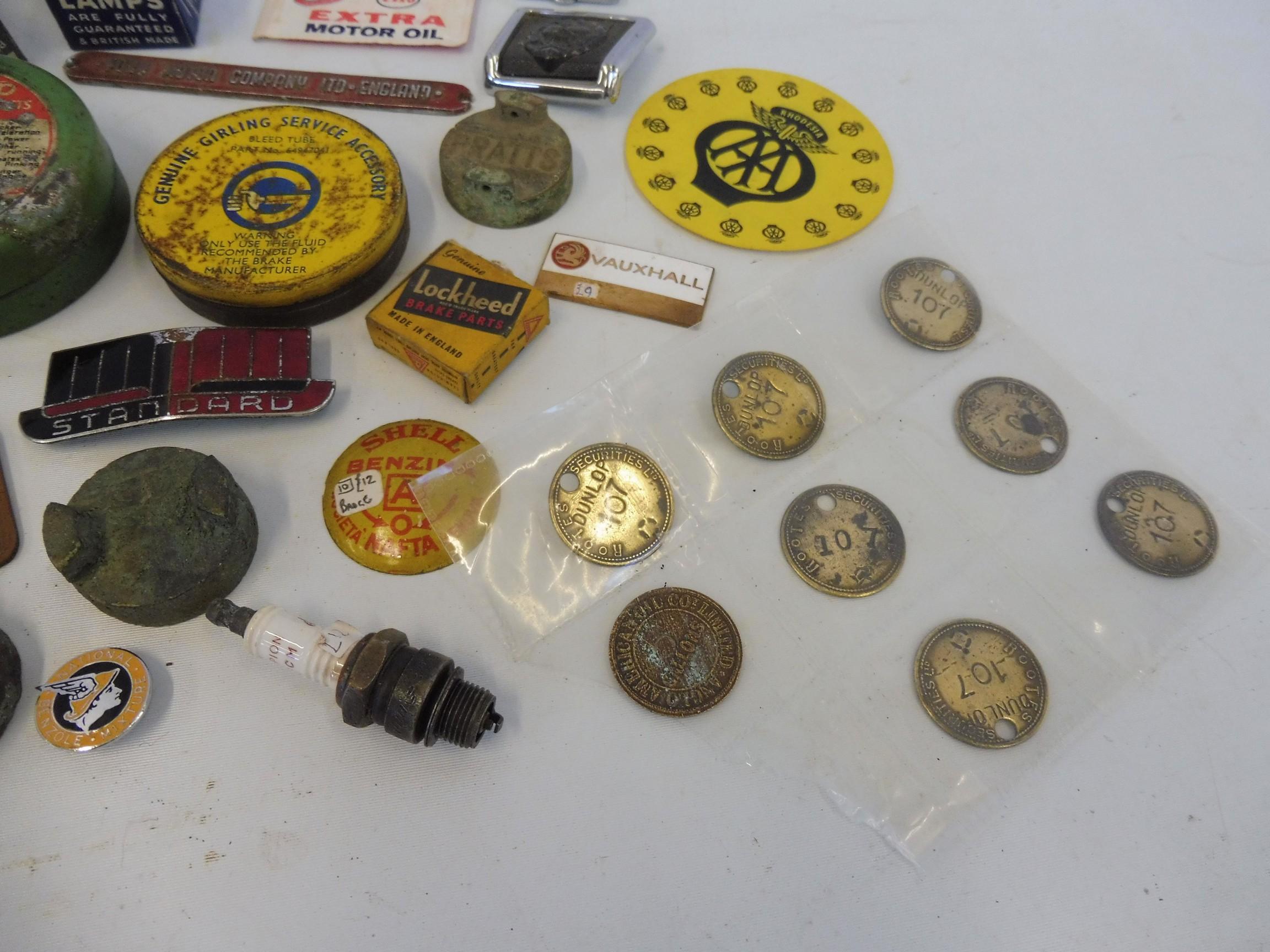 A Fibrax Brake Blocks dispensing tin with mixed contents. - Image 4 of 8