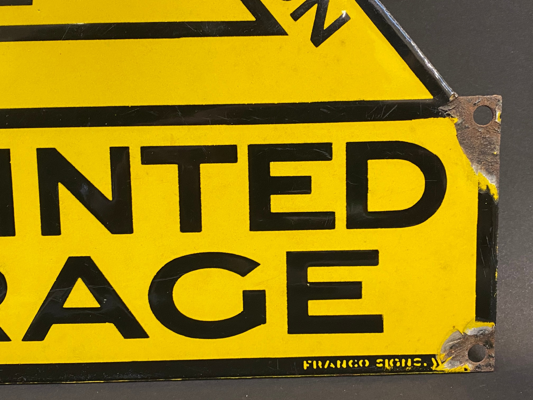 """An AA Appointed Garage enamel sign with excellent gloss by Franco Signs, 13 x 11"""". - Image 3 of 4"""