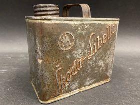 A very rare Skoda motor oil tin can.