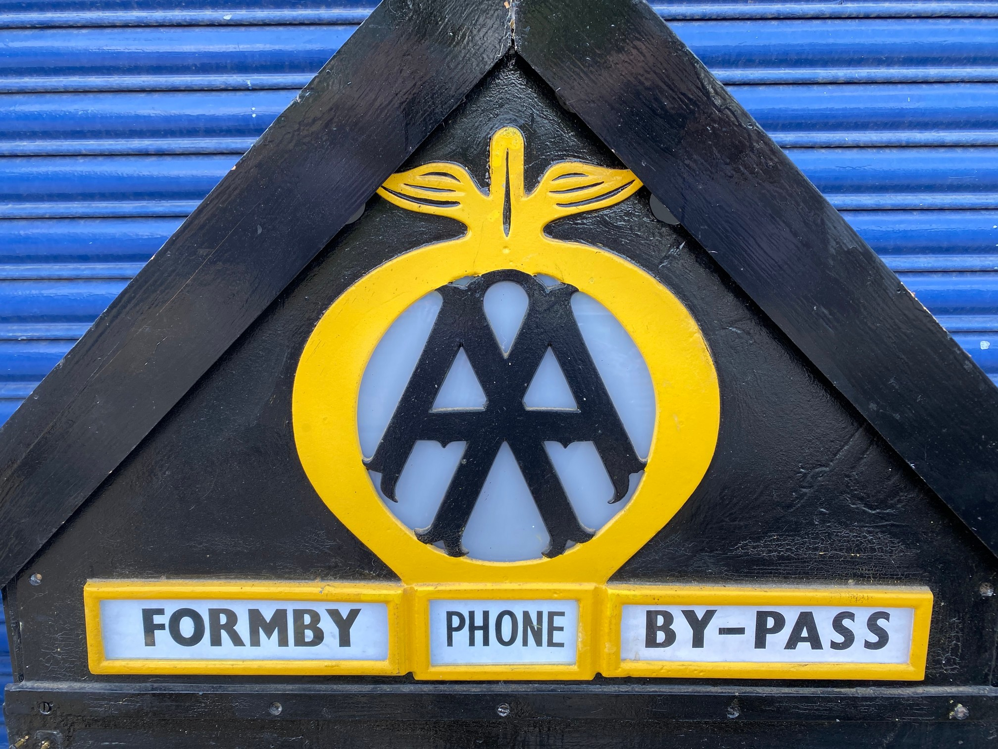 The complete contents and signage from the original AA Formby box, no. 495, removed when the box was - Image 3 of 8