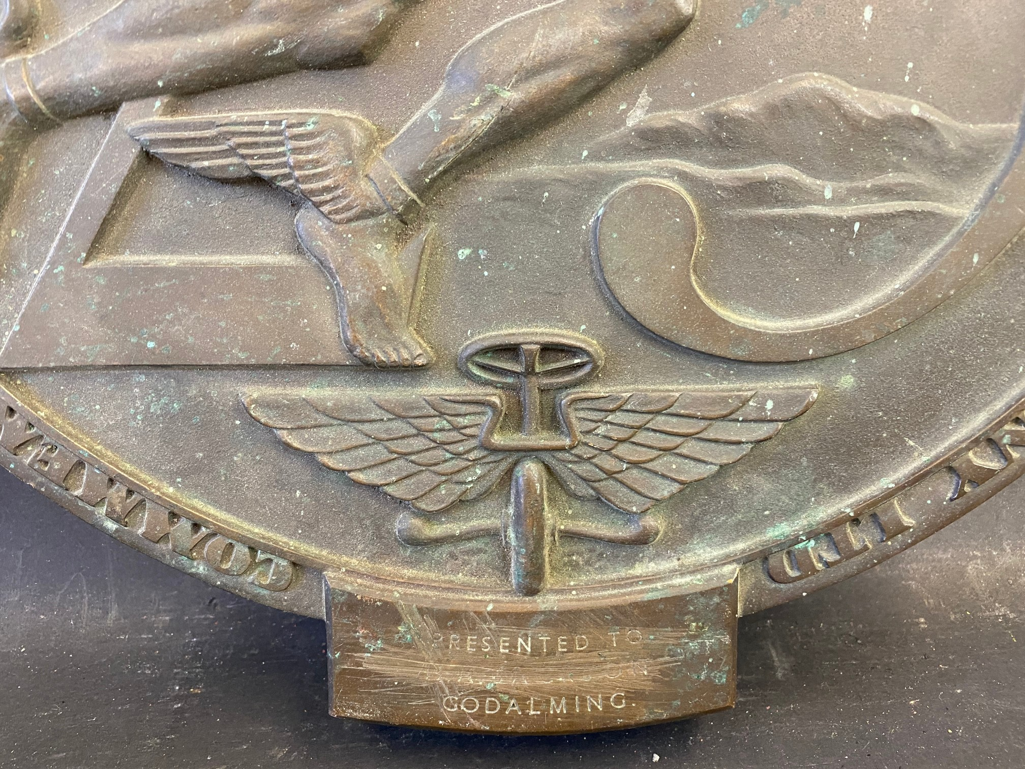 """An Austin 25 Year bronze dealership plaque, presented to a garage in Godalming, 16 x 17"""". - Image 2 of 4"""