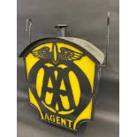A rare and possibly unique paraffin/oil powered AA lightbox, with die-cut AA Agent signs to each