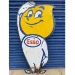 """A large Esso 'Mr Drip' die-cut enamel sign, 35 1/2 x 67""""."""