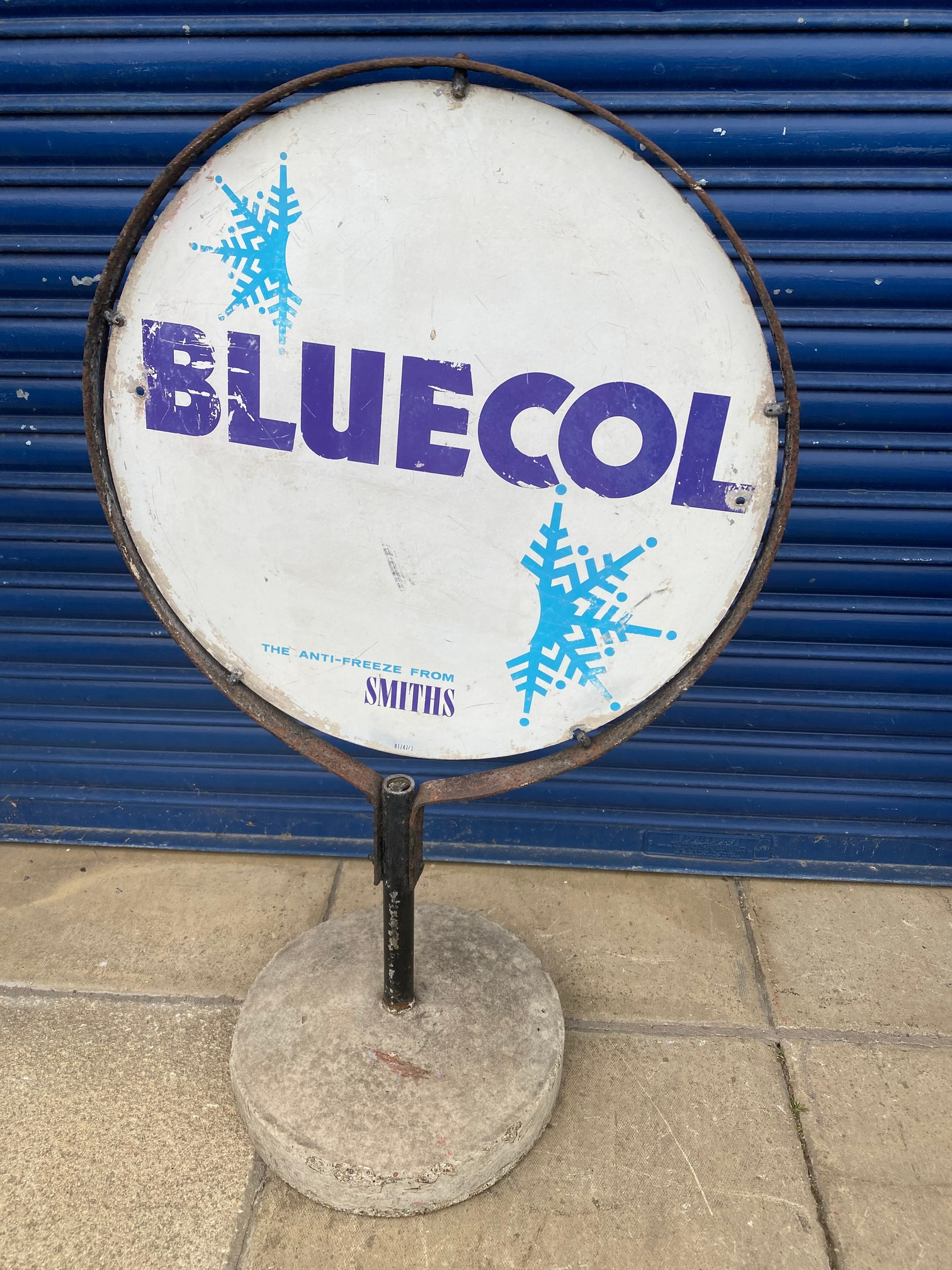 A Smiths Bluecol garage forecourt sign on stand. - Image 2 of 2