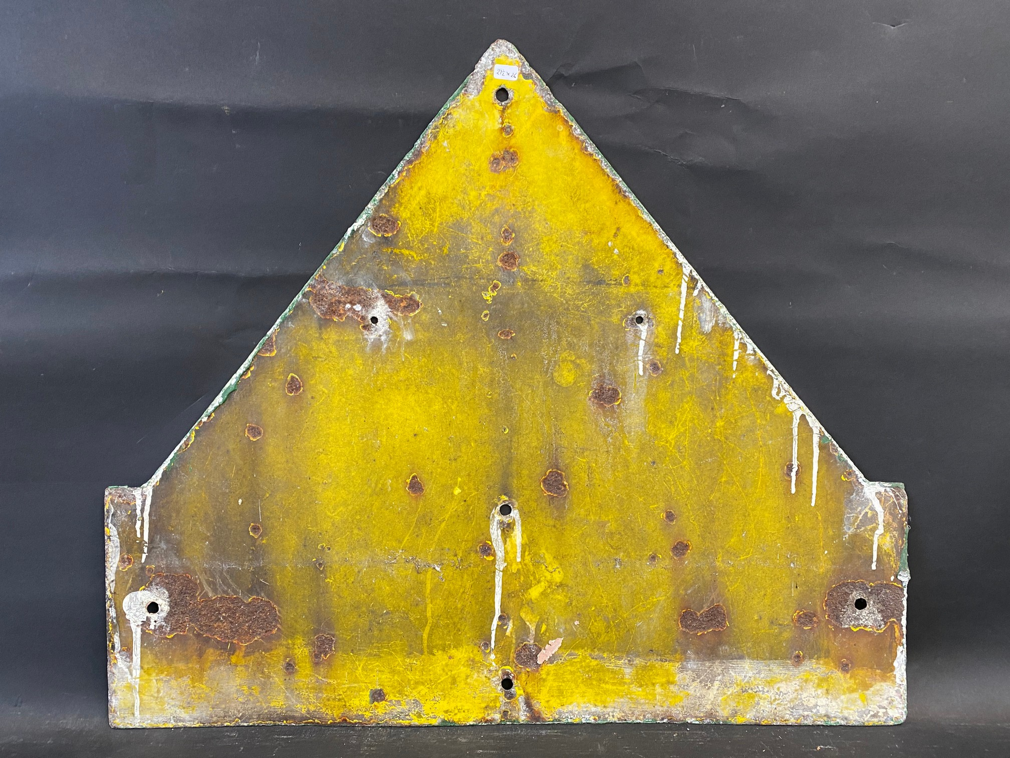"""An AA & Motor Union School enamel road sign by F. Francis & Sons Ltd. of Deptford, 21 1/2 x 26"""". - Image 5 of 5"""