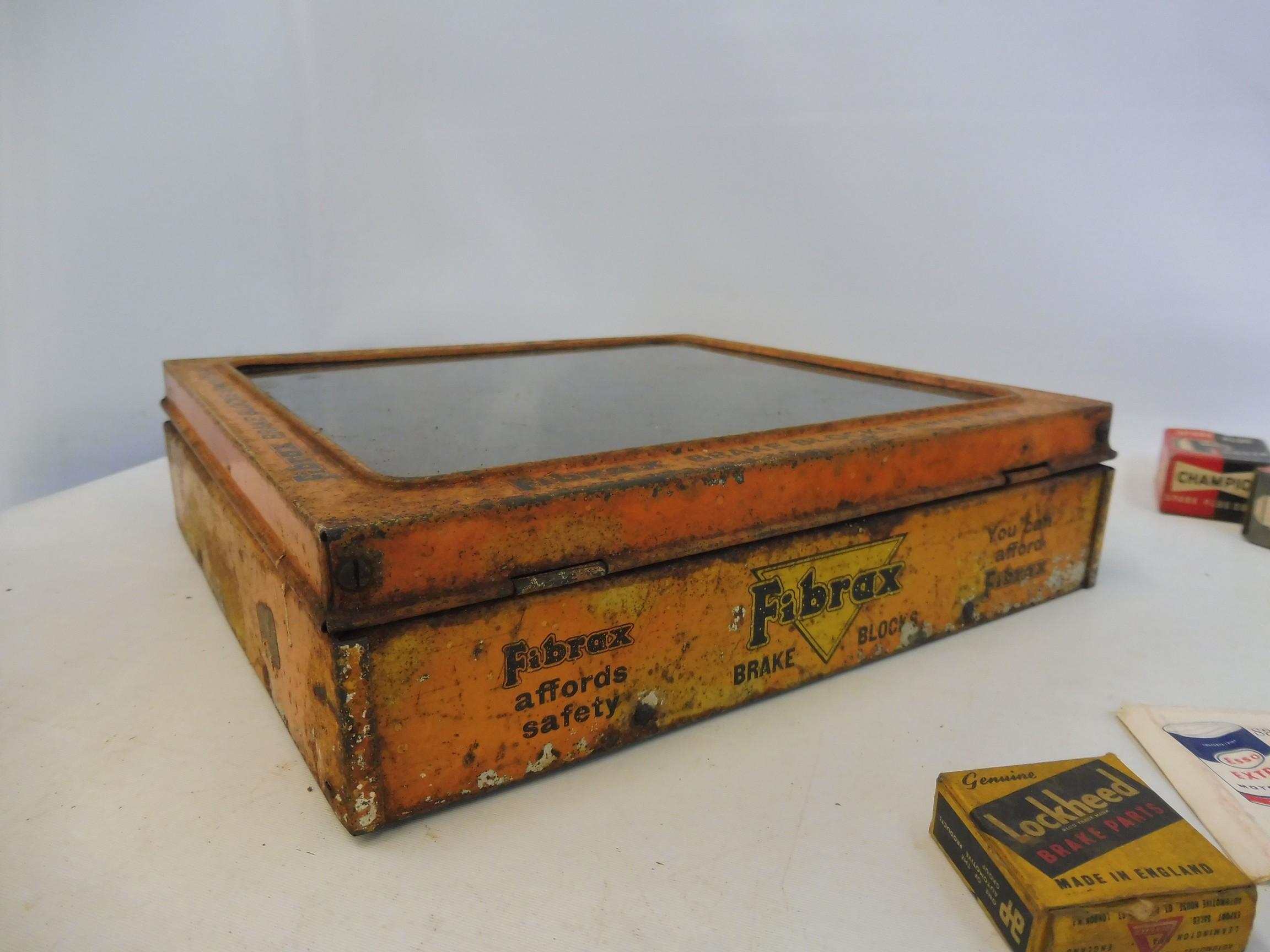 A Fibrax Brake Blocks dispensing tin with mixed contents. - Image 7 of 8