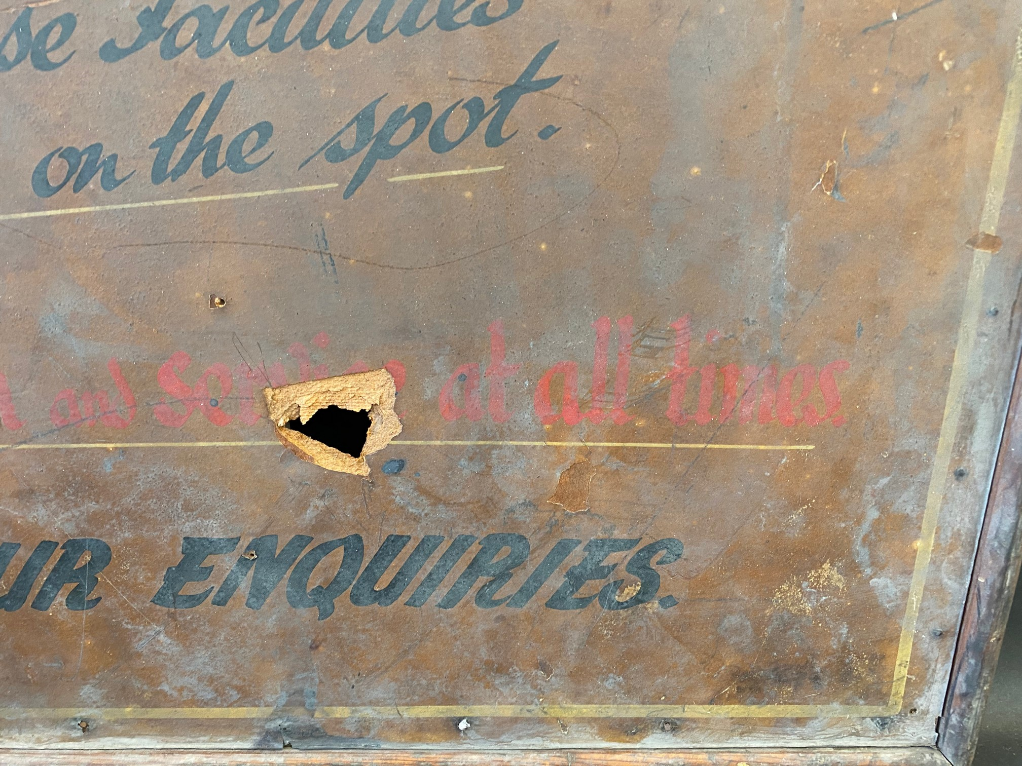 An early garage wooden framed advertising sign for Austin models, car or commercial (recently - Image 2 of 4