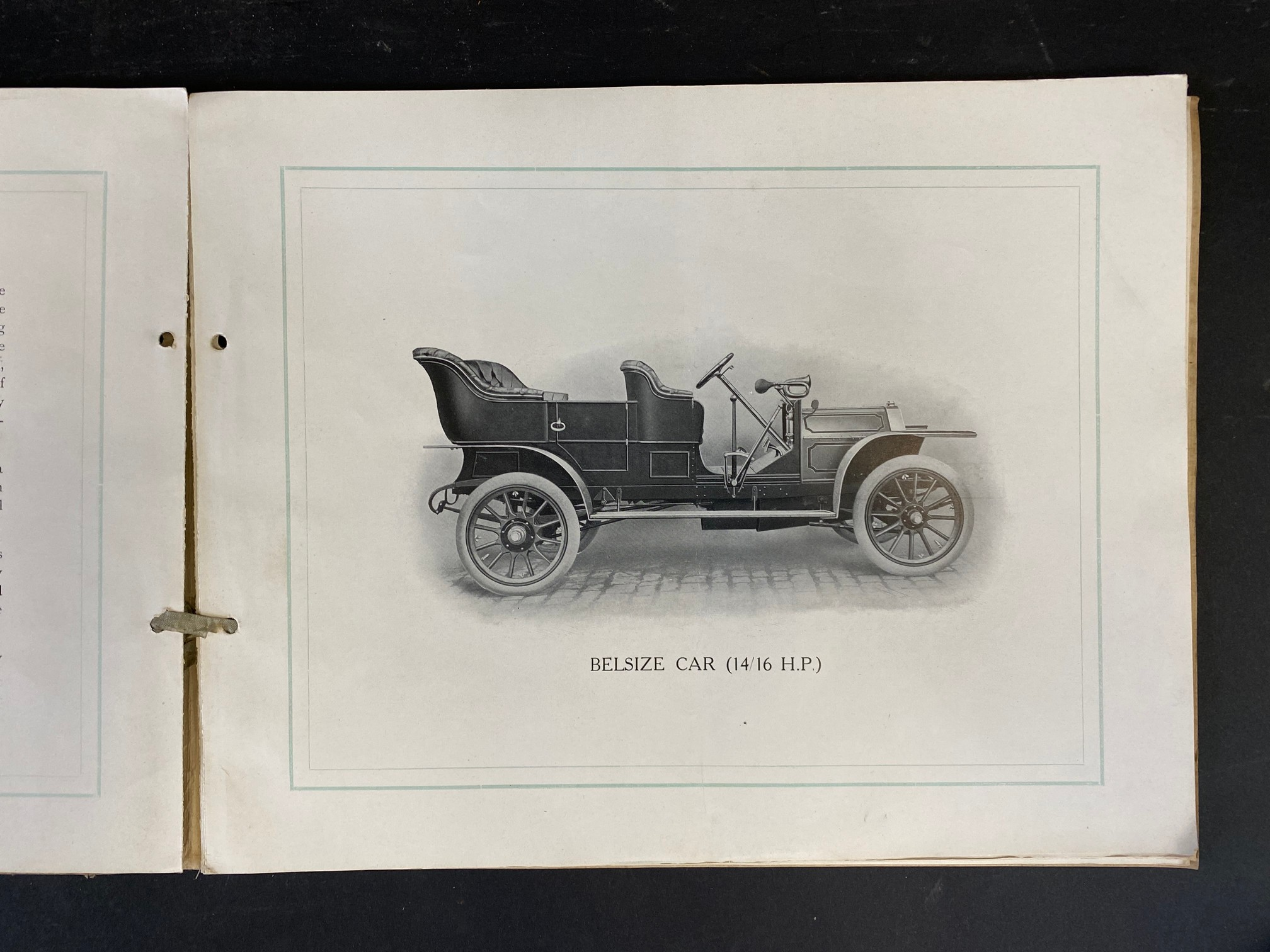 A Belsize car brochure, 1908 featuring a 14/16hp, the 20hp, the 28hp and the 40hp. - Image 2 of 5