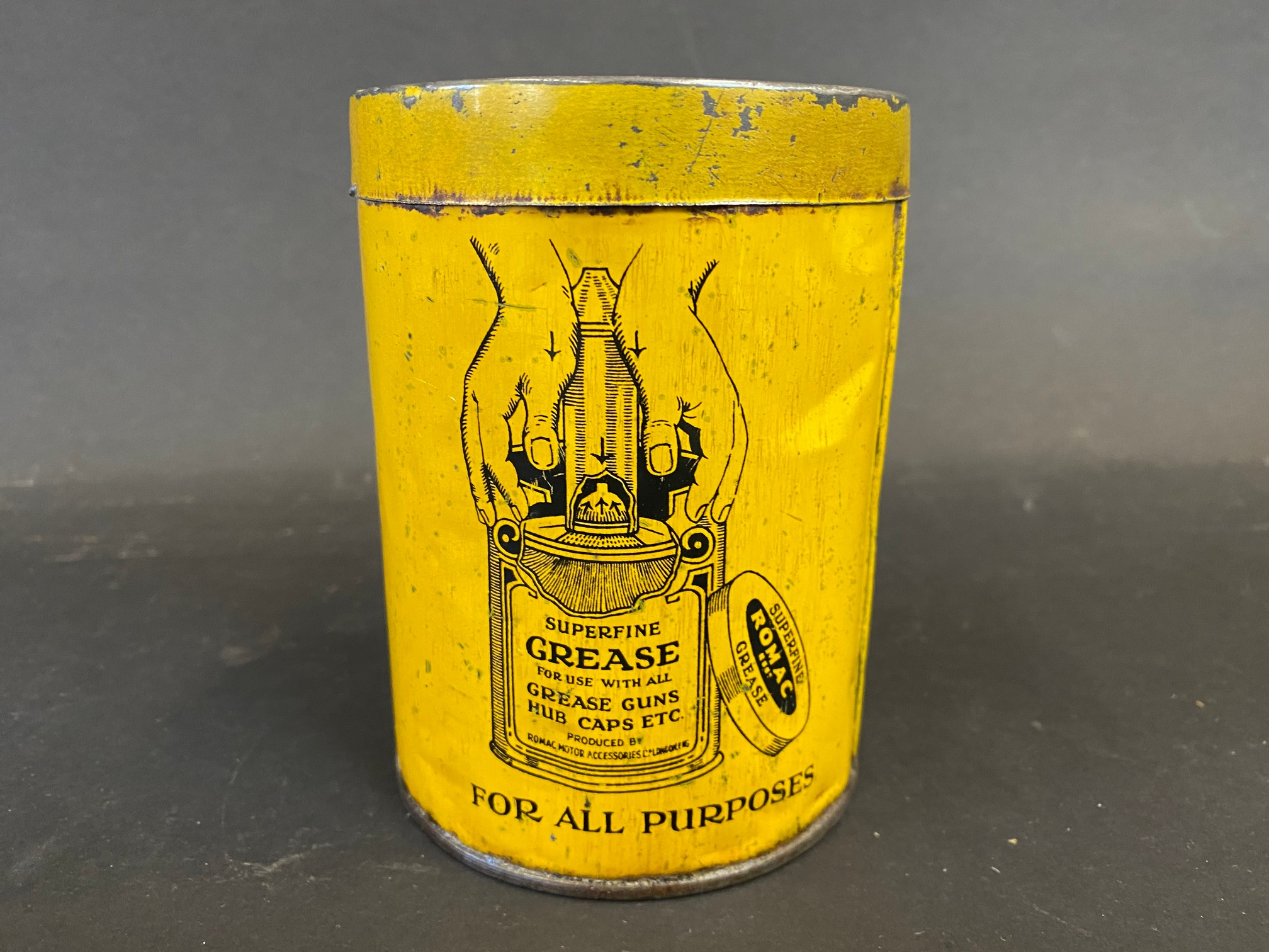 A Romac Superfine Grease tin of bright colour. - Image 2 of 4