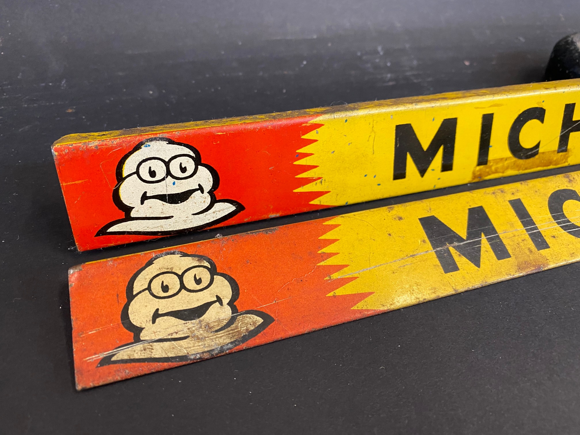 Two Michelin Tyres shelf strips. - Image 2 of 3