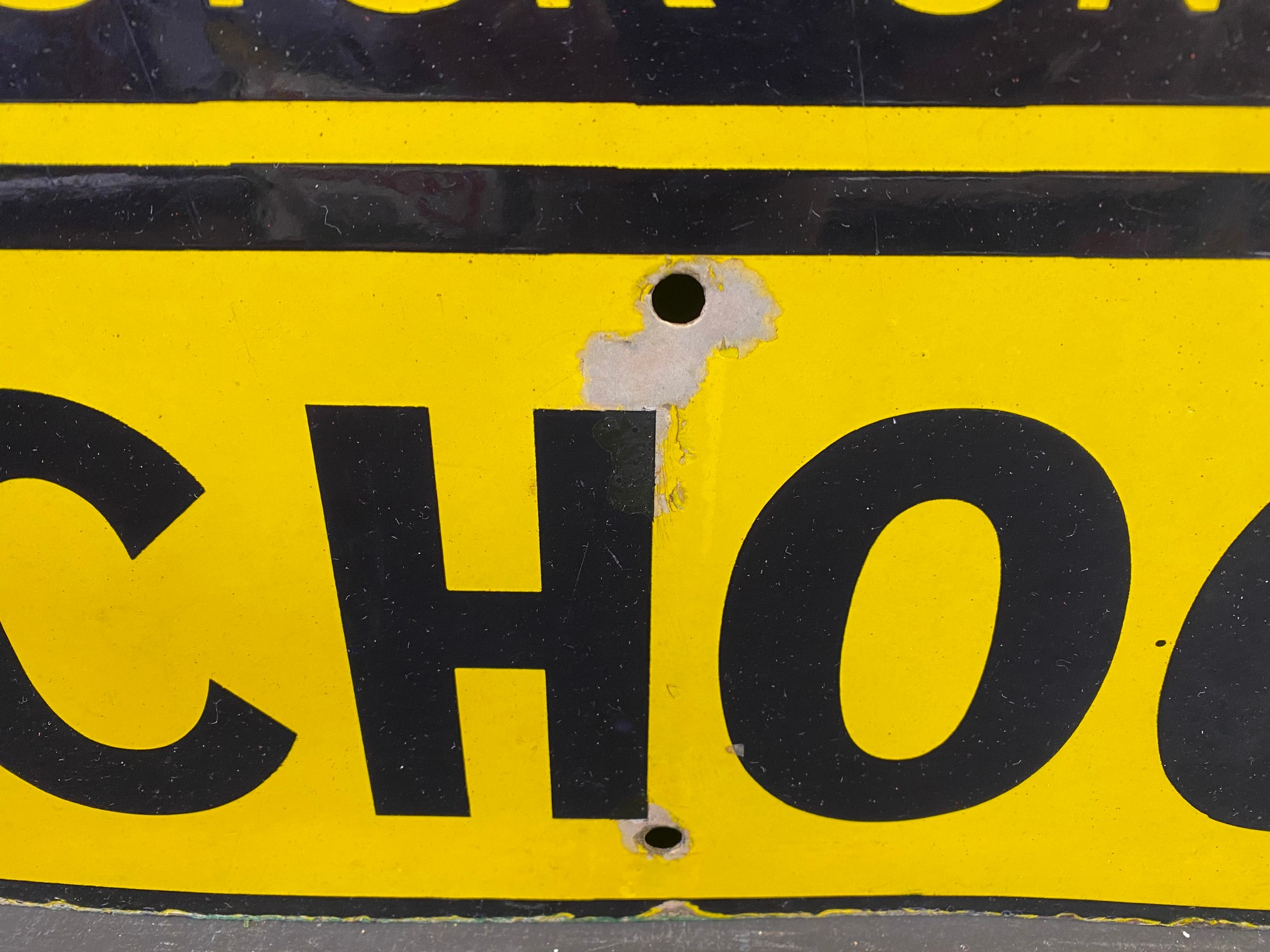 """An AA & Motor Union School enamel road sign by F. Francis & Sons Ltd. of Deptford, 21 1/2 x 26"""". - Image 3 of 5"""