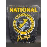 "A National Benzole Mixture 'Pump' aluminium advertising sign, 25 1/2 x 30""."