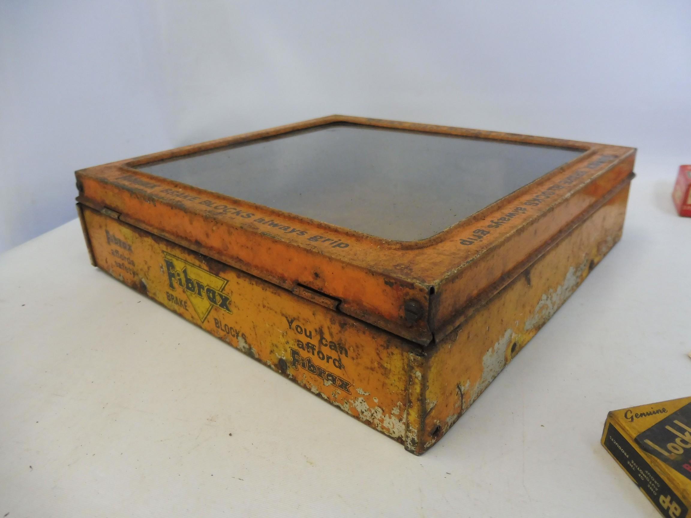 A Fibrax Brake Blocks dispensing tin with mixed contents. - Image 6 of 8