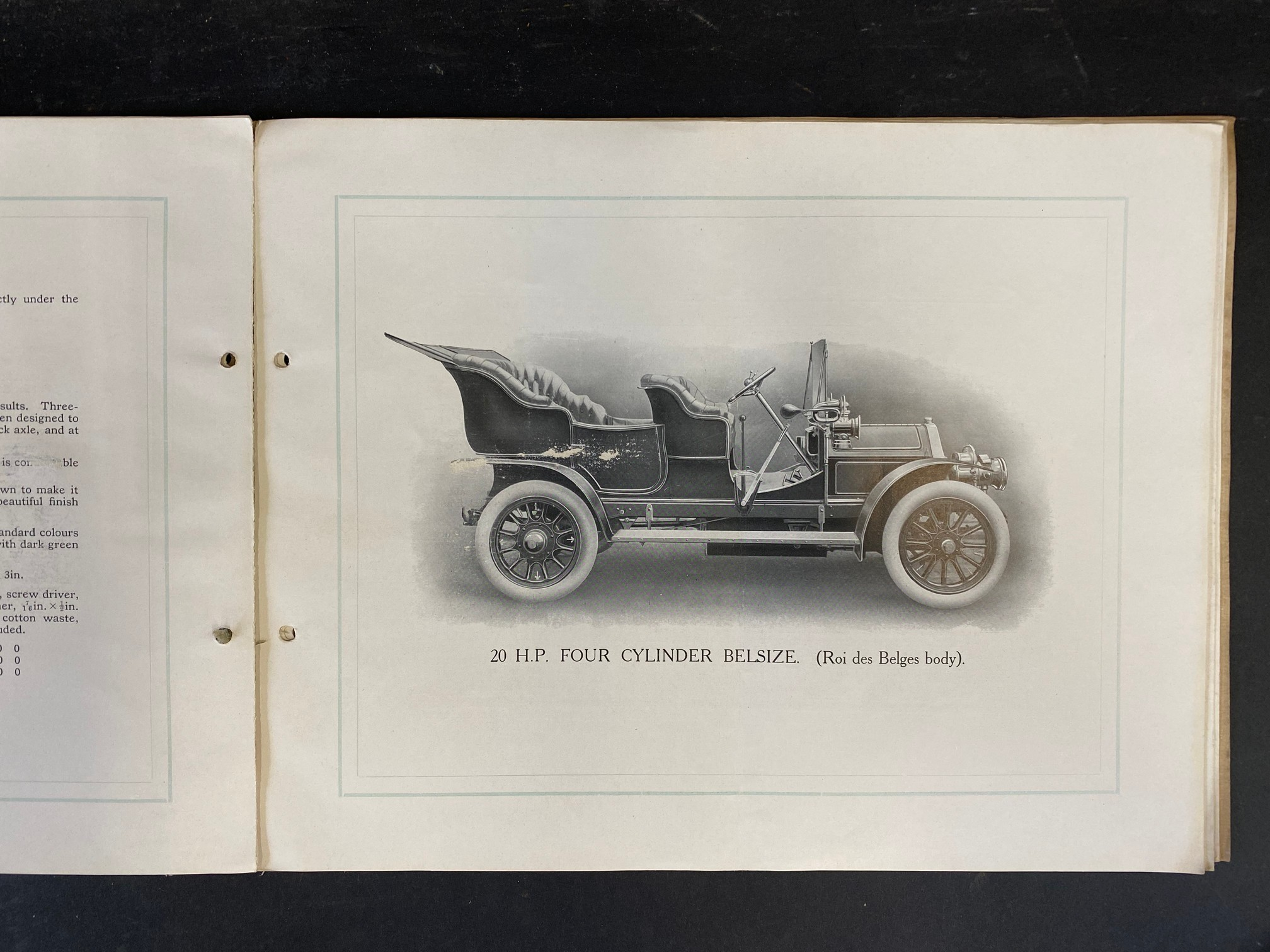 A Belsize car brochure, 1908 featuring a 14/16hp, the 20hp, the 28hp and the 40hp. - Image 3 of 5