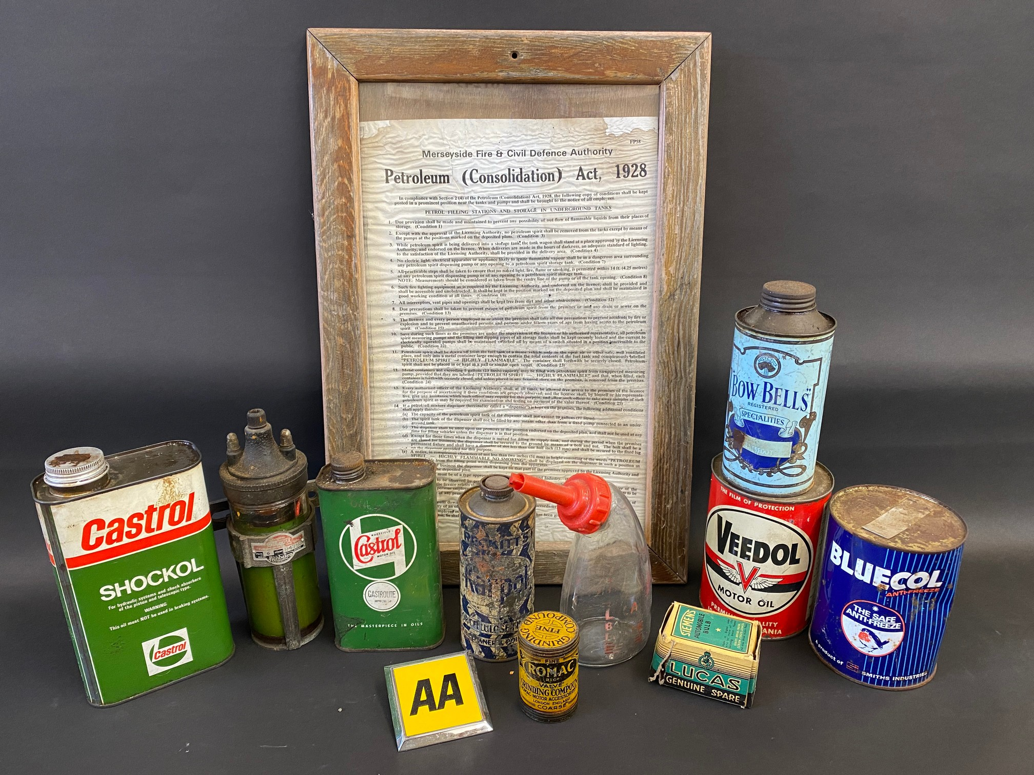 A selection of assorted oil cans including Bow Bells.