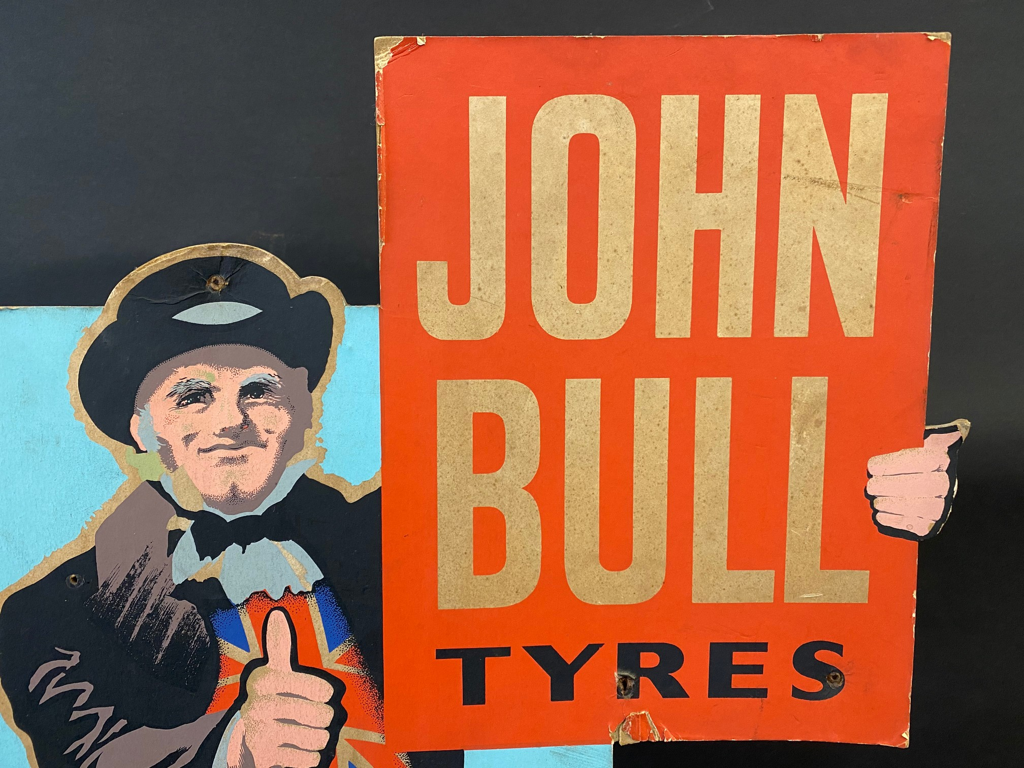 A John Bull Tyres pictorial die-cut easel showcard of a standing John Bull giving the thumbs up, - Image 2 of 4