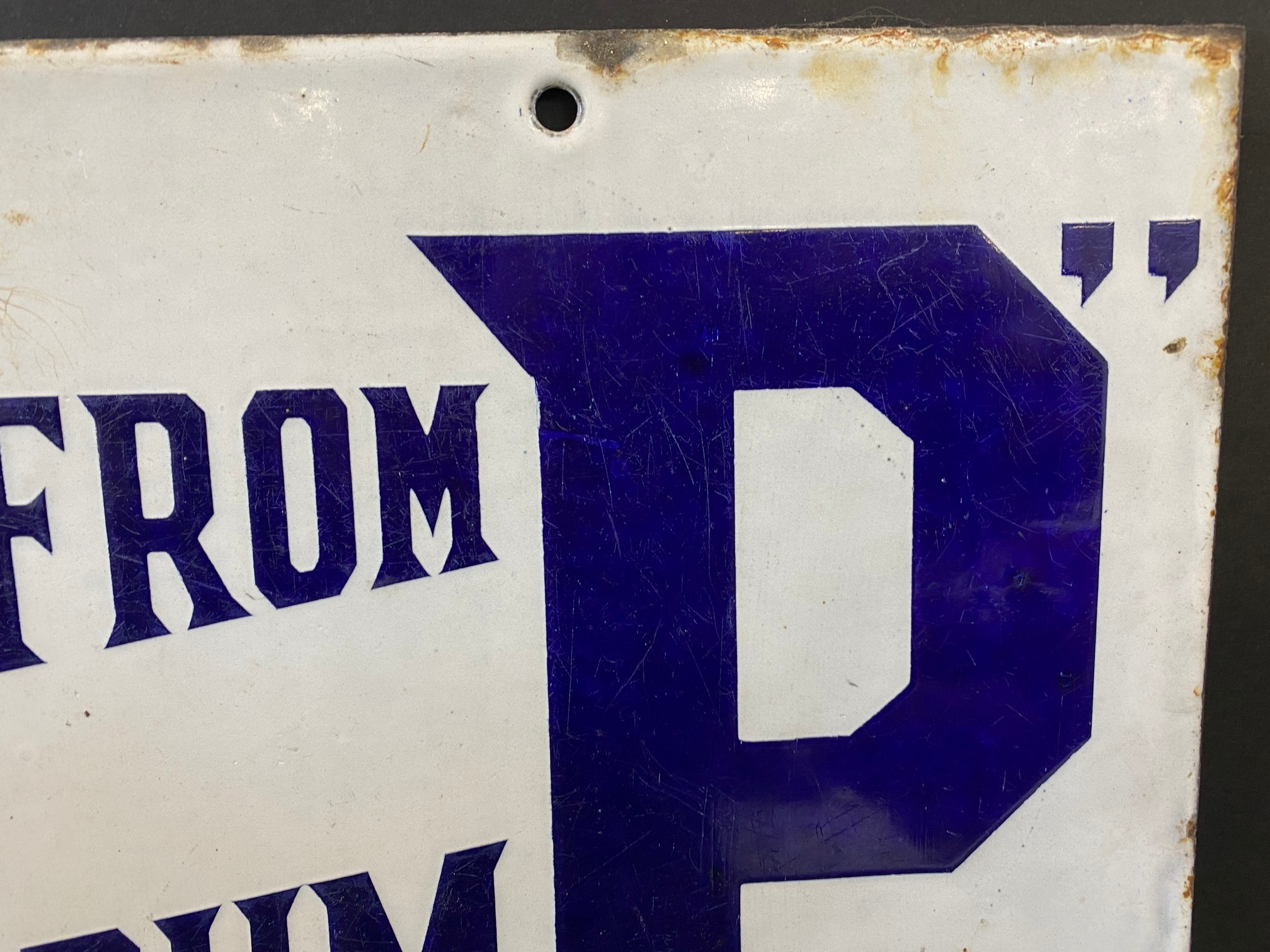 A BP 'Buy from the Pump' rectangular double sided enamel sign with good colour and gloss, by - Image 3 of 5