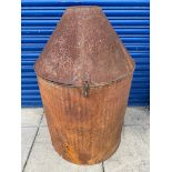 A Perfection oil drum washing drum.