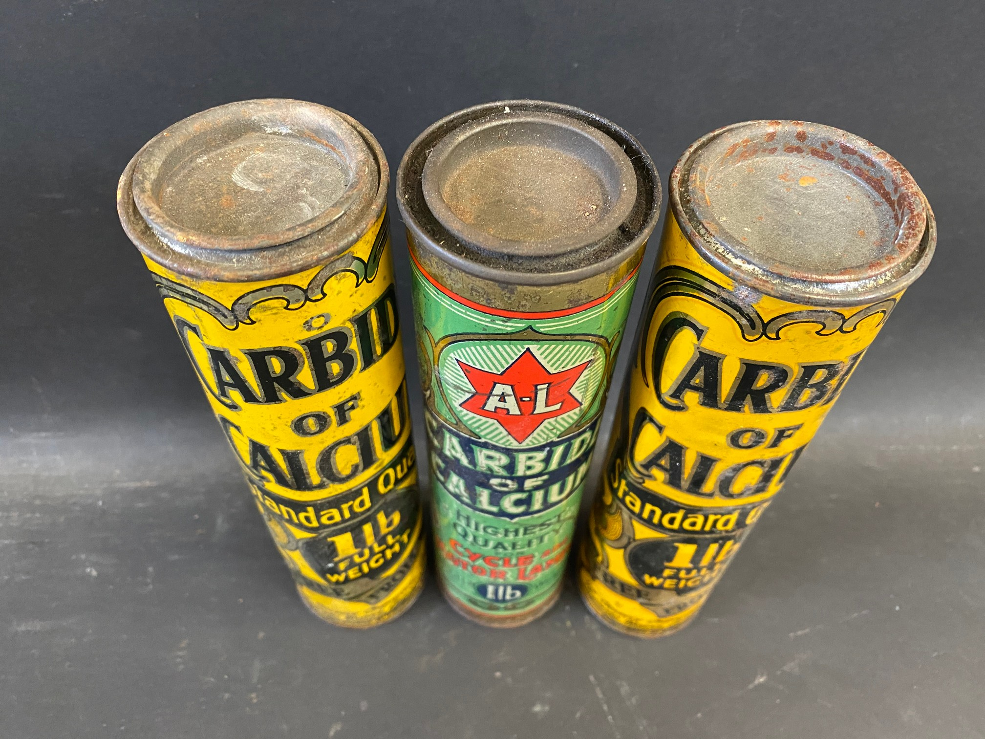 Three Carbide of Calcium cylindrical tins. - Image 2 of 3