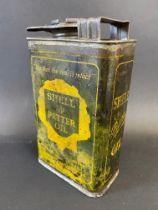 A Shell 'Petter' Oil rectangular quart can.