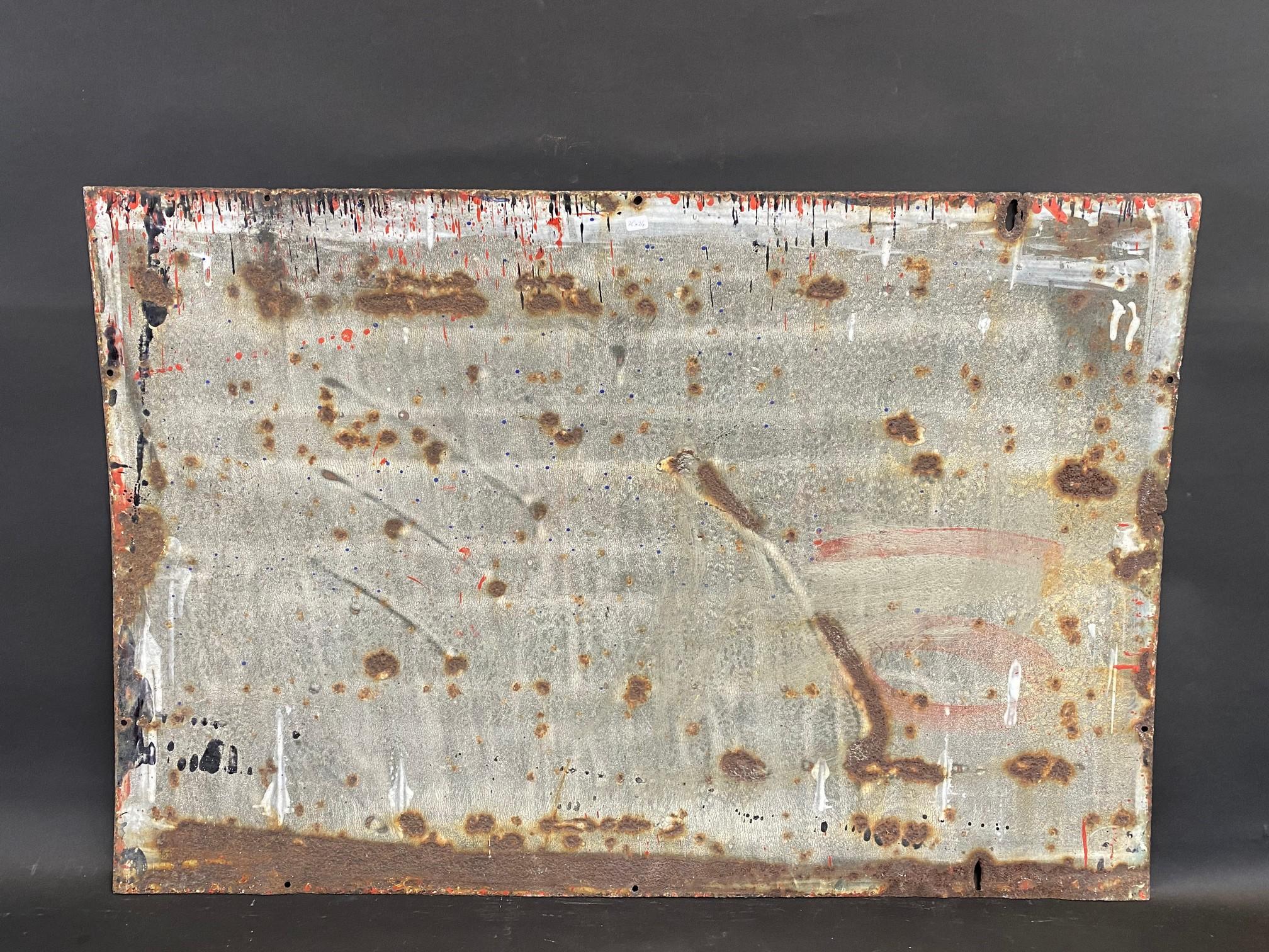 "A Wood-Milne Tyres rectangular enamel sign, 36 x 24"". - Image 4 of 4"