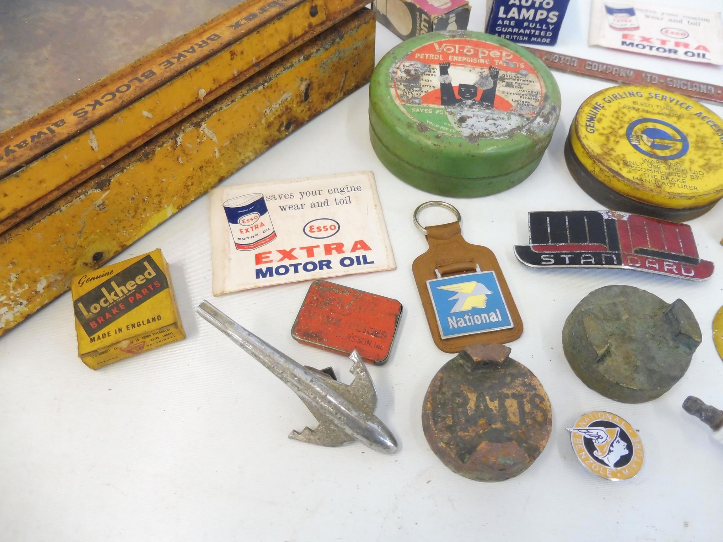 A Fibrax Brake Blocks dispensing tin with mixed contents. - Image 5 of 8