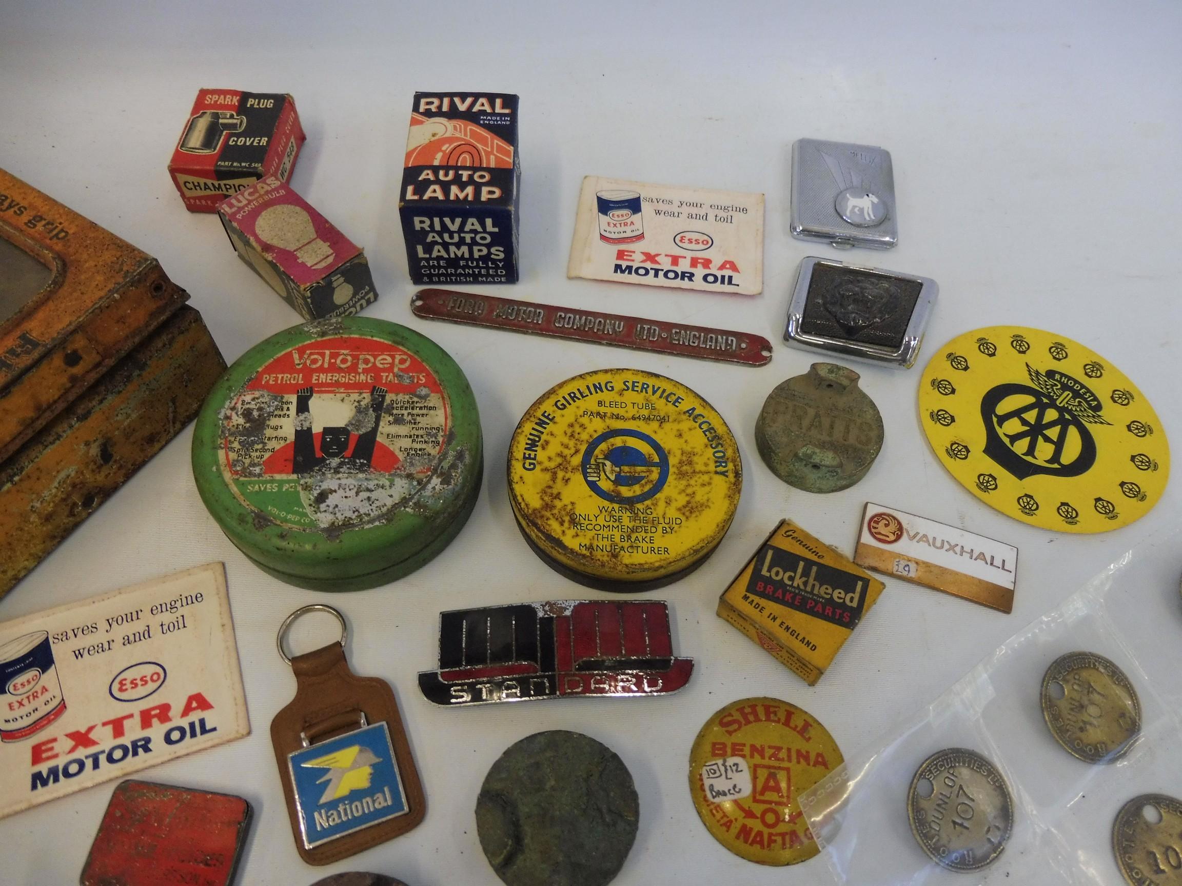 A Fibrax Brake Blocks dispensing tin with mixed contents. - Image 3 of 8