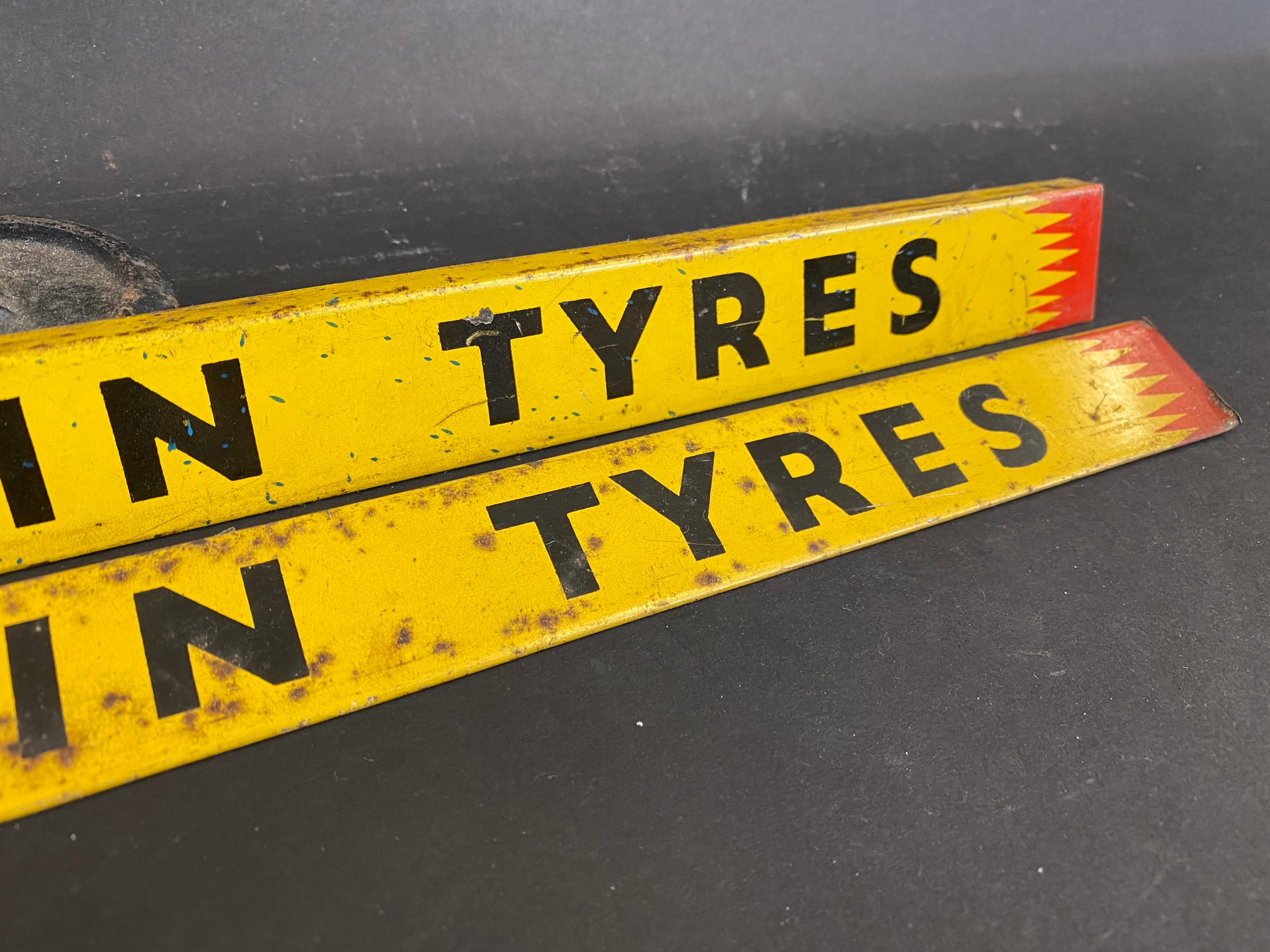 Two Michelin Tyres shelf strips. - Image 3 of 3