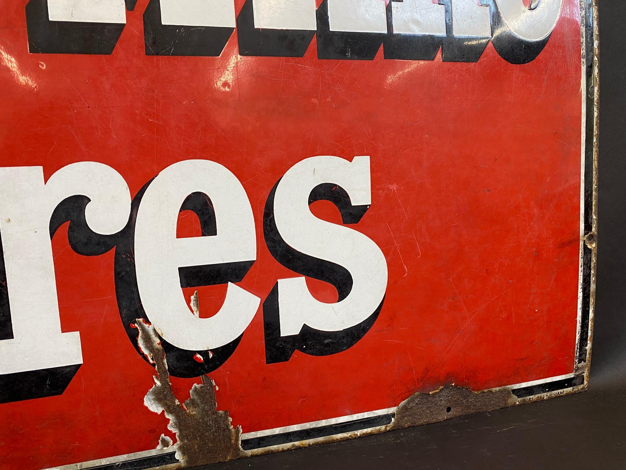 "A Wood-Milne Tyres rectangular enamel sign, 36 x 24"". - Image 3 of 4"
