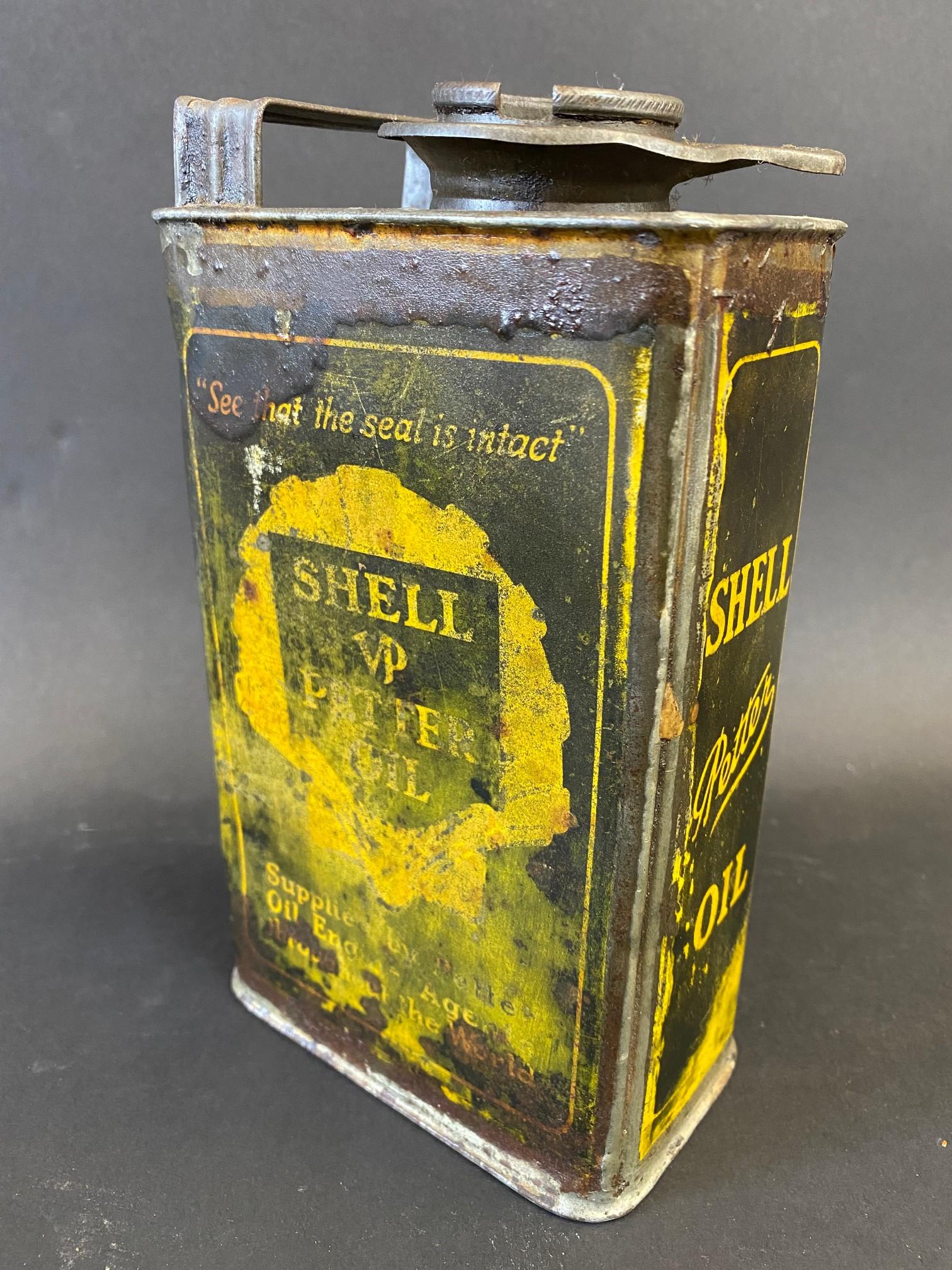A Shell 'Petter' Oil rectangular quart can. - Image 2 of 4