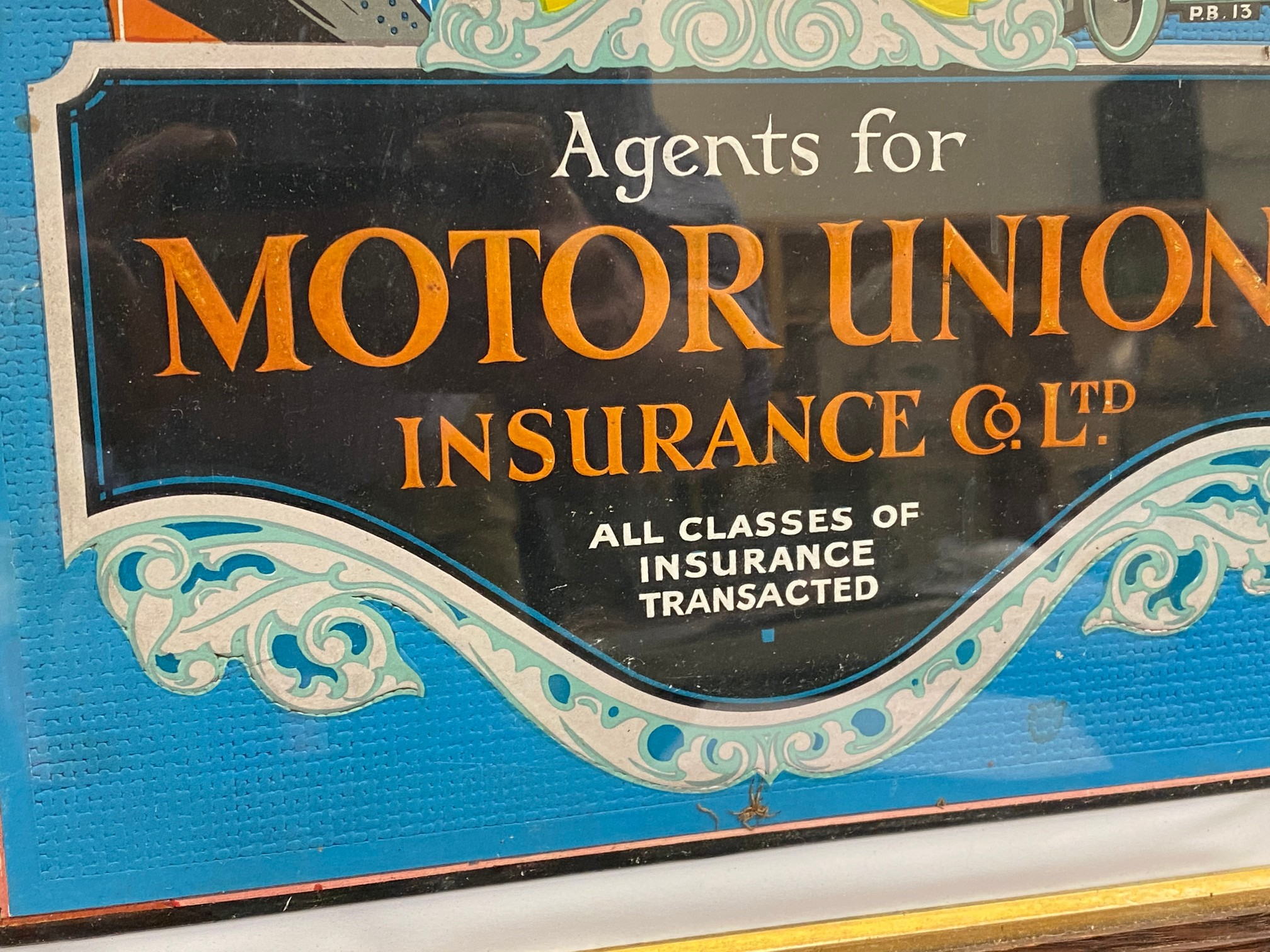 An early showcard advertising AA Member Policy - Agents for Motor Union Insurance Co Ltd, the card - Image 3 of 4