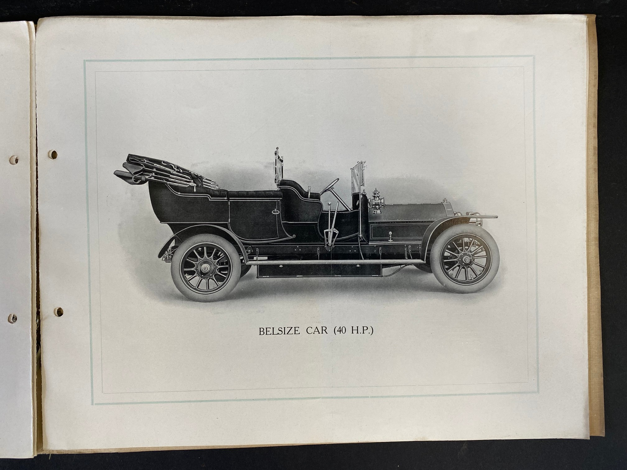 A Belsize car brochure, 1908 featuring a 14/16hp, the 20hp, the 28hp and the 40hp. - Image 5 of 5