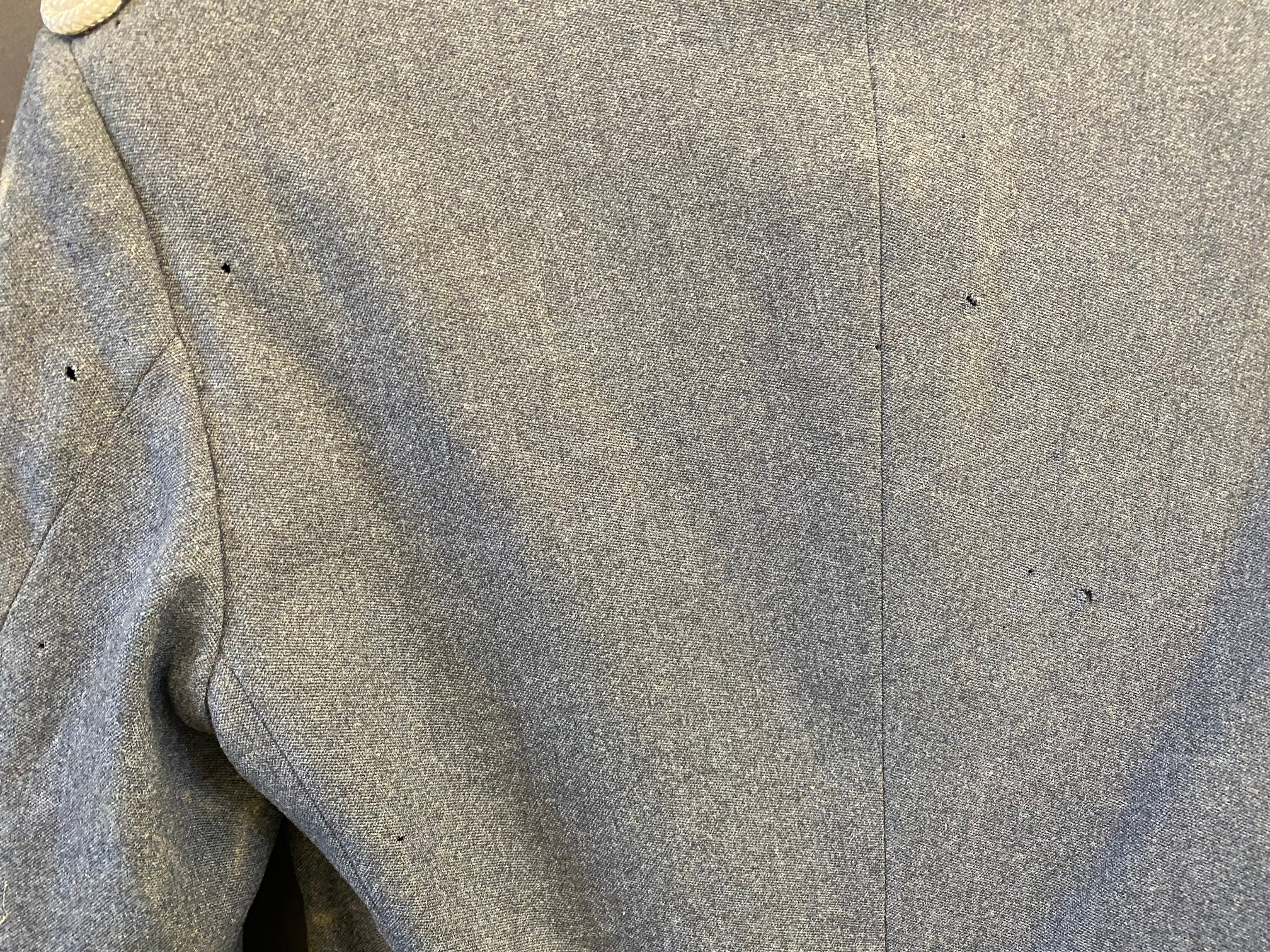 An RAC blue jacket and trousers with embossed lapel badges and RAC silver coloured buttons. - Image 6 of 6